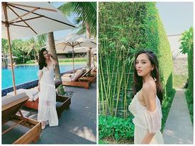 Hoa hậu Tiểu Vy khoe nhan sắc rực rỡ cùng trình catwalk chuyên nghiệp nhưng cái kết lại cực hài