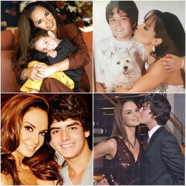 Mẹ là Hoa hậu Hoàn vũ tuyệt sắc nên con trai cũng đẹp tựa nam thần trong tranh-6