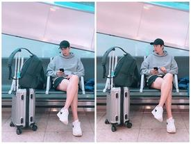 Chỉ là ngồi chờ ở sân bay, Lee Min Ho vẫn khiến khối chị em phải ghen tỵ vì đôi chân dài cực phẩm vừa trắng vừa thon