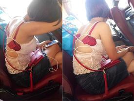 Mặc áo phản cảm còn để tuột hết nội y, cô gái trẻ đi xe khách Hà Nội - Nam Định gây tranh cãi gay gắt khắp MXH