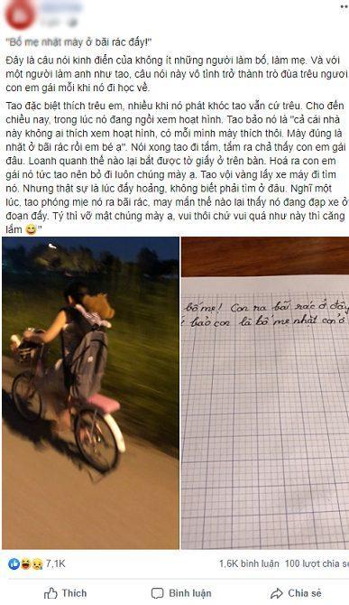 Bị trêu đùa bố mẹ nhặt ở bãi rác, bé gái viết tâm thư rồi bỏ nhà ra bãi rác tìm cha mẹ ruột của mình-1