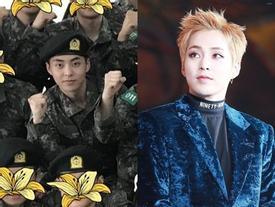 Rò rỉ ảnh Xiumin (EXO) trong quân đội, fan mong anh tự chăm sóc sức khỏe và hoàn thành trách nhiệm