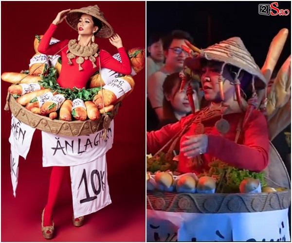 HÚ HỒN: Mặc quốc phục Bánh Mì y chang HHen Niê, Việt Hương cứ như đang thi Hoa hậu Hoàn vũ Thế giới-1