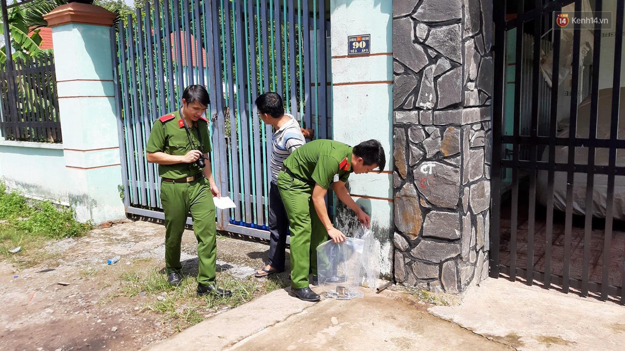 Cảnh sát vào rừng cao su, truy tìm dấu vết để phá án vụ 2 thi thể trong thùng nước đổ bê tông-1