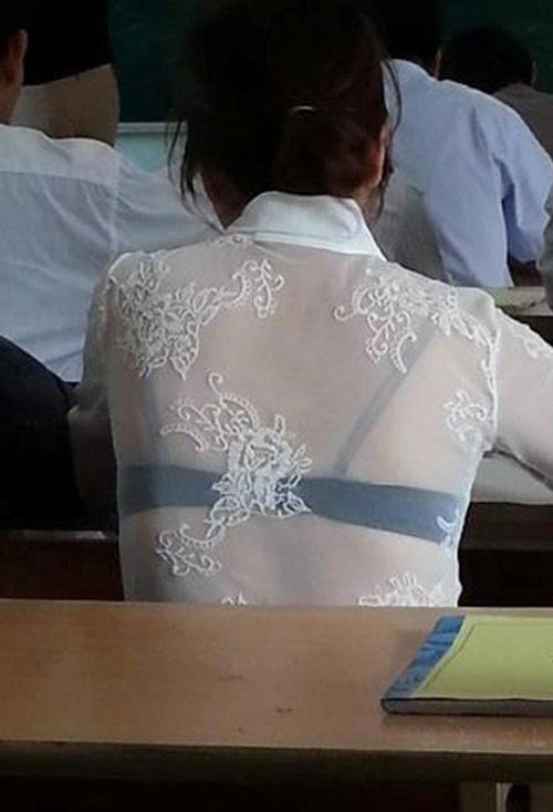 Hình ảnh nữ sinh mặc áo dài trắng trong suốt lộ nội y gây xôn xao vì phản cảm-3
