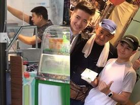 Lâm Chí Dĩnh giàu có bậc nhất, anh trai vất vả bán đồ ăn ở vỉa hè