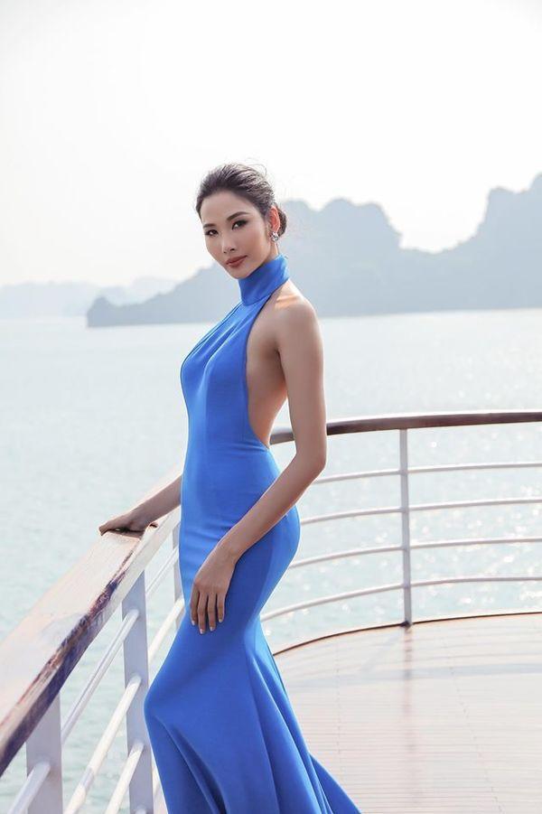 Mặc váy hở khoe trọn rãnh lưng đẹp xuất sắc, Hoàng Thùy khiến fan loạn nhịp tim-1