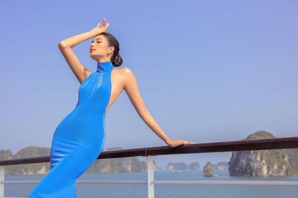 Mặc váy hở khoe trọn rãnh lưng đẹp xuất sắc, Hoàng Thùy khiến fan loạn nhịp tim-8
