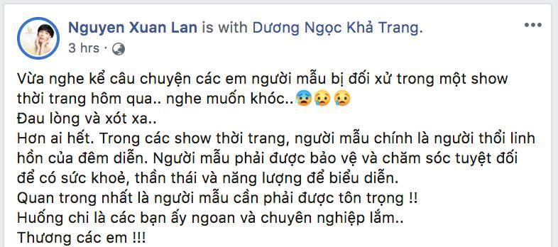 Dàn mẫu Việt đồng loạt tố bị BTC Fashion Voyage cho ăn cơm tù, đi tàu chợ khi diễn show trong cái nóng hơn 40 độ C-7
