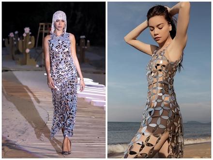 Minh Tú mặc thiết kế bị tố 'đạo nhái' từ trang phục Hồ Ngọc Hà đã mặc trước đó 1 năm