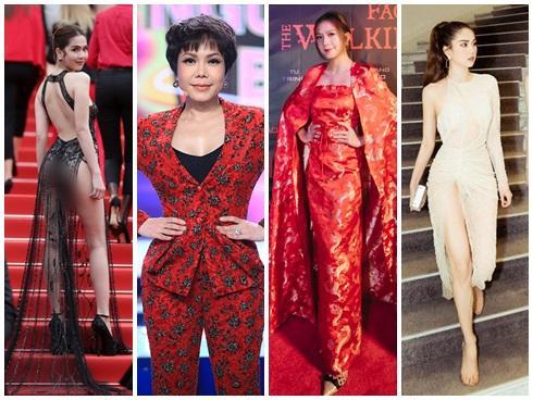 SAO MẶC XẤU: Mặc đầm xẻ hiểm hóc, Ngọc Trinh 2 lần lộ nội y phản cảm - vợ Lý Hải 'làm lố' với trang phục như 'bà hoàng'