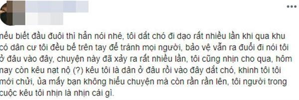 Thanh niên Việt kiều dắt chó đi dạo không rọ mõm lên tiếng: Khinh tôi, tôi mới chửi-2