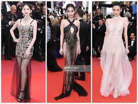 Cùng diện váy xuyên thấu 'chặt chém' Cannes: Cổ Lực Na Trát - Hề Mộng Dao đẹp xuất sắc, nhìn sang Ngọc Trinh chỉ biết thở dài