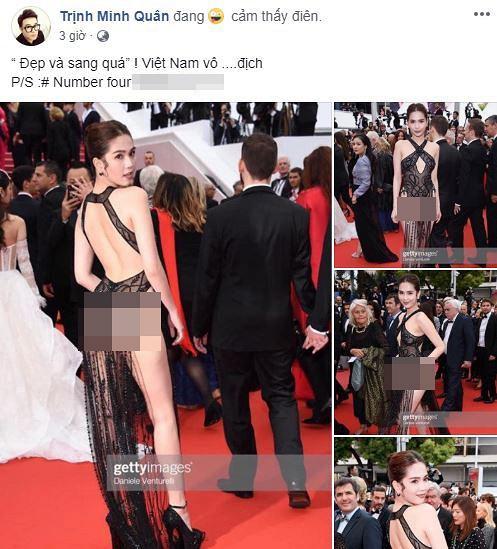 Dàn sao Việt gay gắt chỉ trích chiếc váy không biết xấu hổ của Ngọc Trinh trên thảm đỏ Cannes-5