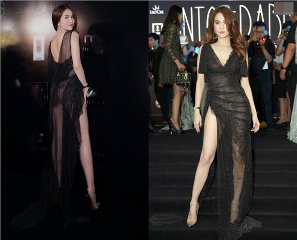 Không phải đến Cannes mới hở bạo đâu, Ngọc Trinh có cả một bộ sưu tập những chiếc váy còn nóng hơn thời tiết Hà Nội đây này!-6