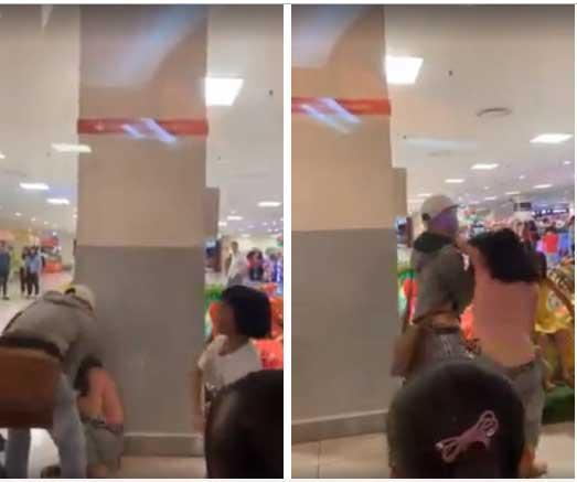 Clip: Cô gái bị nam thanh niên giằng co, lên gối liên tục vào mặt giữa trung tâm thương mại-1
