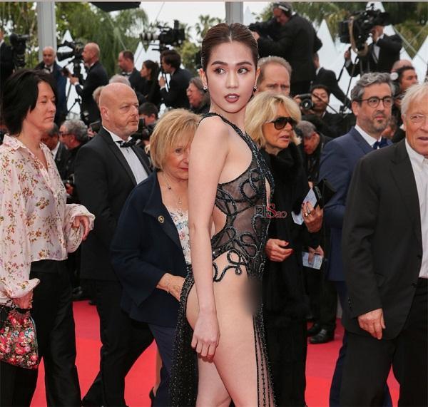 Bị đồng nghiệp lên án mặc lố bịch ở Cannes, Ngọc Trinh phản đòn: Duyên ai nấy hưởng, nghiệp ai nấy mang-4