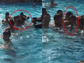 Tranh cãi nảy lửa vụ cô gái để nhóm thanh niên gần chục người vô tư động chạm cơ thể dưới hồ bơi