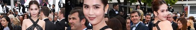 Ngọc Trinh khoe thân trên thảm đỏ Cannes
