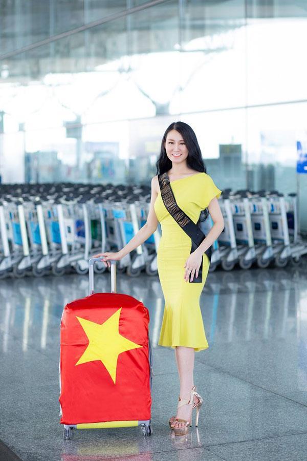 Phạm Lan Anh rạng rỡ lên đường dự Hoa hậu du lịch thế giới 2019-2