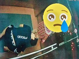 Hình ảnh PHẢN CẢM nhất hôm nay: Kẻ biến thái ở Quy Nhơn quỳ gối cố tình nhìn bên trong váy bé gái đi cùng thang máy