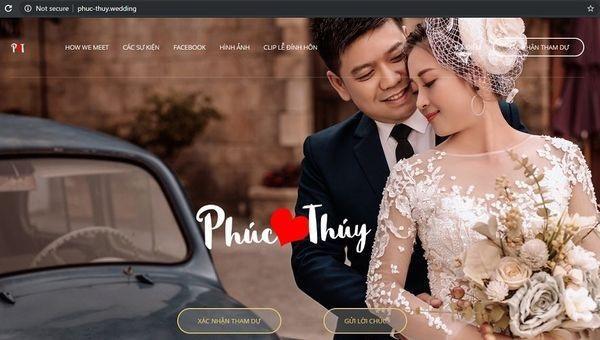 Cặp đôi mời cưới thời 4.0: Làm hẳn website để khách mời xác nhận đi hay không, có cả số tài khoản để chuyển tiền cho tiện-1