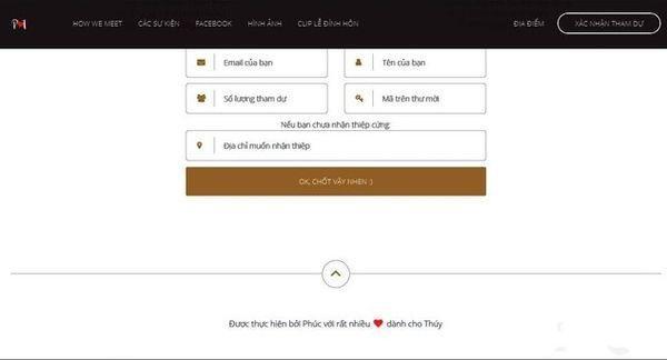 Cặp đôi mời cưới thời 4.0: Làm hẳn website để khách mời xác nhận đi hay không, có cả số tài khoản để chuyển tiền cho tiện-3