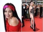 Dân tình ném đá đủ chưa, Ngọc Trinh tiếp tục hở bạo với bộ đầm xuyên thấu khác nào corset tại Cannes 2019 đây này-9