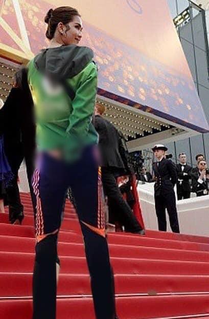 ĐỐ KHÔNG CƯỜI: Thấy Ngọc Trinh ăn mặc thiếu vải, cộng đồng photoshop ra tay thiết kế lại trang phục dự Cannes cho nữ hoàng nội y-5