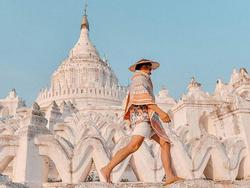 Chuyện tình lãng mạn phía sau ngôi chùa trắng ở Myanmar
