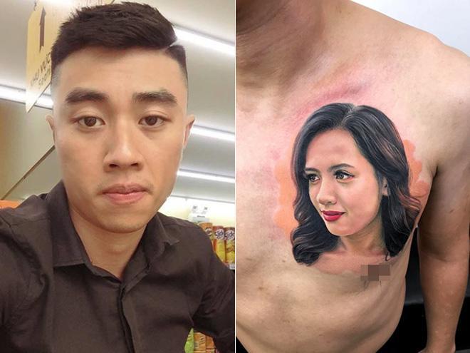 Chàng trai vàng trong làng xăm trổ: Không gây tê, chịu đau 9 tiếng để xăm chân dung vợ kín một bên ngực-1