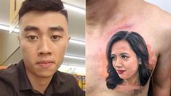 Chàng trai vàng trong làng xăm trổ: Không gây tê, chịu đau 9 tiếng để xăm chân dung vợ kín một bên ngực