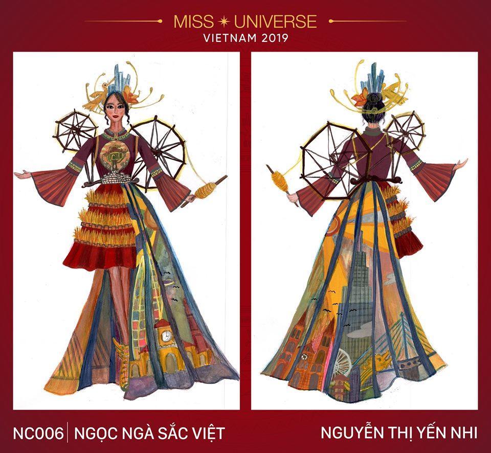 Ngỡ ngàng trước hàng loạt ý tưởng độc đáo cho quốc phục của Hoàng Thùy tại Miss Universe 2019-6