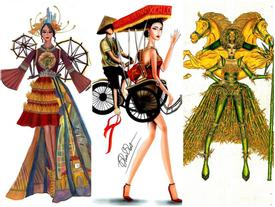 Ngỡ ngàng trước hàng loạt ý tưởng độc đáo cho quốc phục của Hoàng Thùy tại Miss Universe 2019
