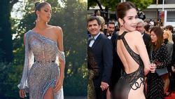Ngắm đầm xuyên thấu đẹp mê hồn của Hoa hậu Hoàn vũ tại Cannes, lại phải 'nể' sự táo bạo bất chấp của Ngọc Trinh