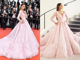 ĐẲNG CẤP LÀ ĐÂY: Hoa hậu Hoàn vũ diện đầm công chúa sáng rực trên thảm đỏ Cannes