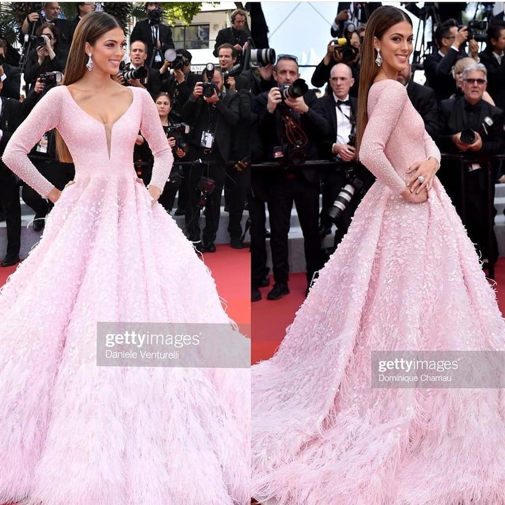 ĐẲNG CẤP LÀ ĐÂY: Hoa hậu Hoàn vũ diện đầm công chúa sáng rực trên thảm đỏ Cannes-9