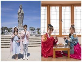 Trang Pháp- Lục Huy ghi hình lãng mạn như uyên ương phim Hàn