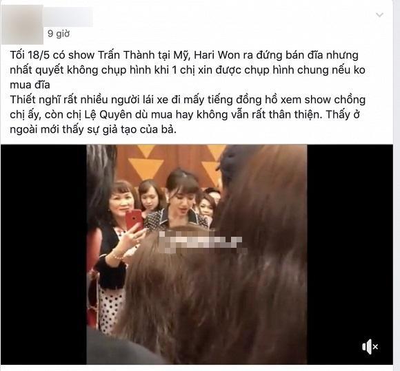 Hari Won bị khán giả tố giả tạo, mời mua album không được là nhất định không chịu chụp ảnh chung-1