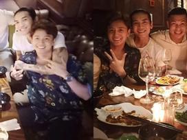 'Vợ chồng' BB Trần - Ngô Kiến Huy ôm ấp tình tứ trong tiệc vui bạn bè