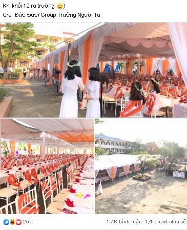 Xôn xao hình ảnh lễ bế giảng được trang trí như rạp cưới ở Thái Nguyên-1