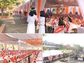 Xôn xao hình ảnh lễ bế giảng được trang trí như rạp cưới ở Thái Nguyên