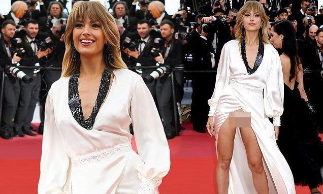 Người mẫu xinh đẹp Brazil hết hồn vì tụt váy bất ngờ ngay trên thảm đỏ Cannes-7