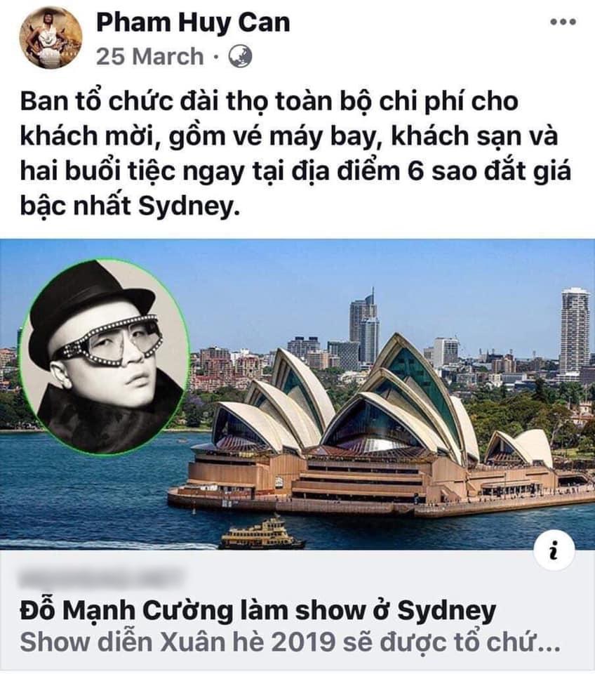 Đỗ Mạnh Cường phản dame cực gắt khi bị tố vô ơn, xin đểu, sống ảo sau show diễn nhiều tỷ hoành tráng ở Sydney-10