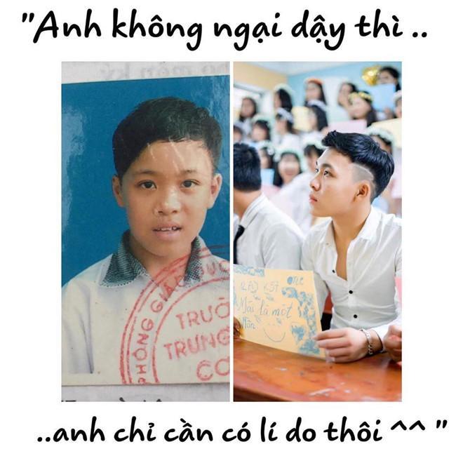 Dân mạng bật cười với bộ ảnh dậy thì thành công của teen Thái Bình-1