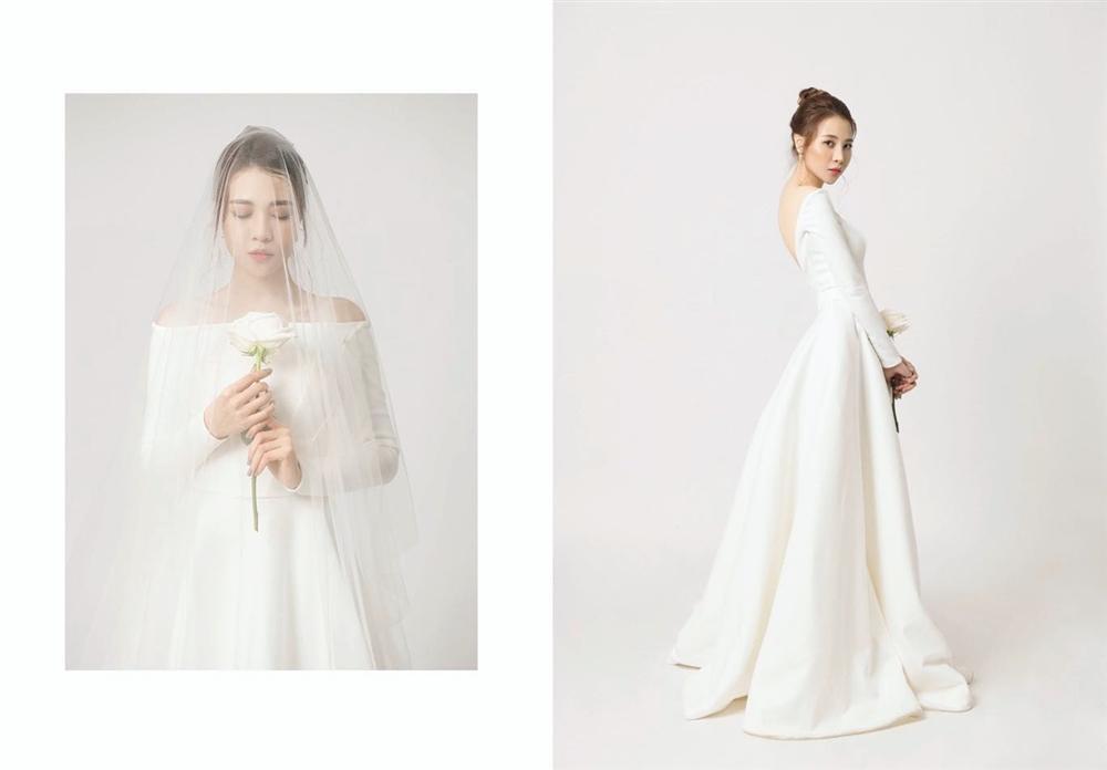 Không cần chờ đợi nữa, Đàm Thu Trang chính thức hé lộ hình ảnh mặc váy cưới đẹp tinh khôi-2