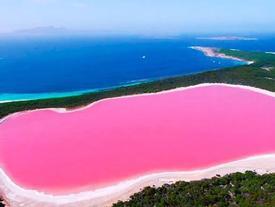 Bí ẩn hồ nước màu hồng giữa quần đảo hoang sơ