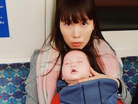 Hà Anh 'độp vào mặt' những người chỉ trích cô ác khi luyện ngủ cho con
