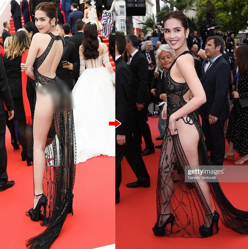 Giữa tâm bão khẩu chiến Lý Nhã Kỳ - Vũ Khắc Tiệp: Ngọc Trinh lại bị bóc mẽ tại Cannes, đầm phản cảm thì được bán fake đầy chợ-3