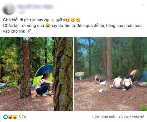 Cô gái ăn mặc hở hang khi đi phượt cùng nhóm bạn nam khiến dân mạng tranh luận gay gắt-1